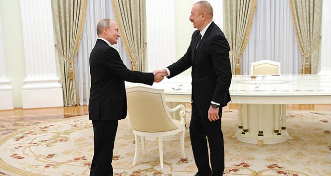 Putin ve Aliyev, Türk-Rus Ortak Merkezi'ni görüştü