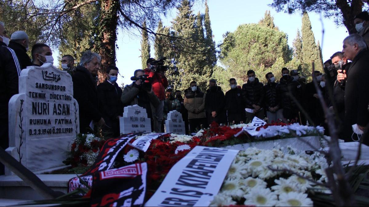 Samsunspor'un 32 yıllık acısı tazelendi… Hayatını kaybedenler mezarları başında anıldı