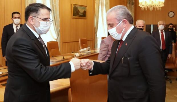 TBMM Başkanı Şentop, Kuzey Makedonya Anayasa Mahkemesi Başkanı Murat'ı kabul etti!