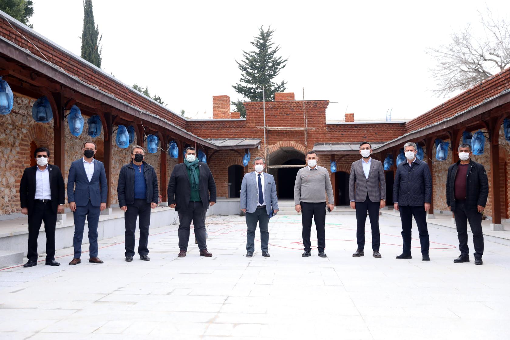 Alanya Kalesi'nde başkanlar buluştu