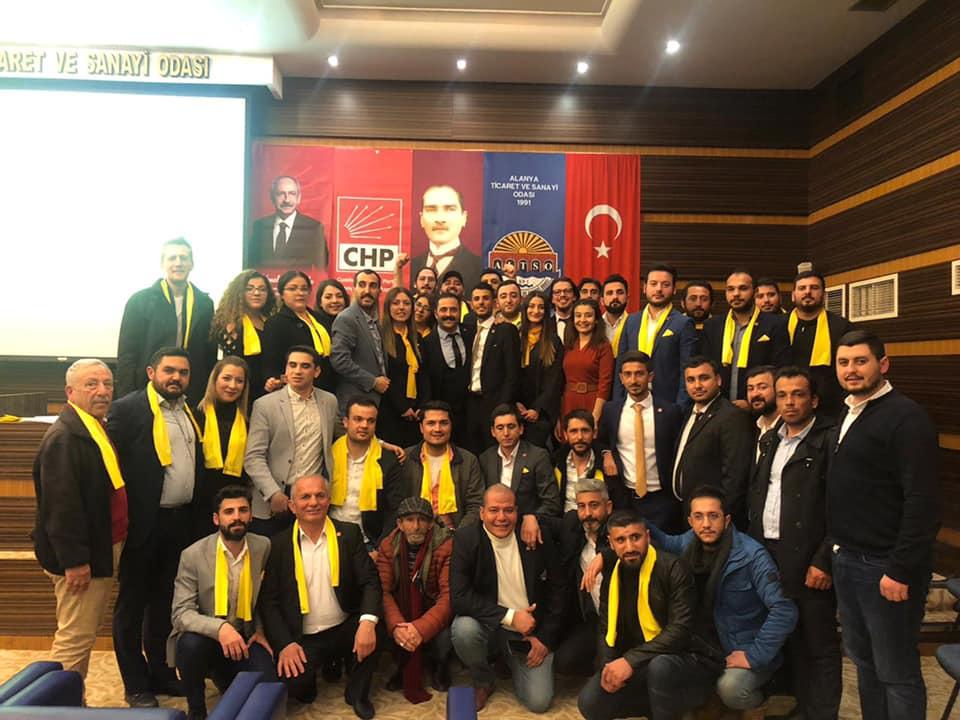 Alanya CHP Gençlik Kolları 1 yaşında!