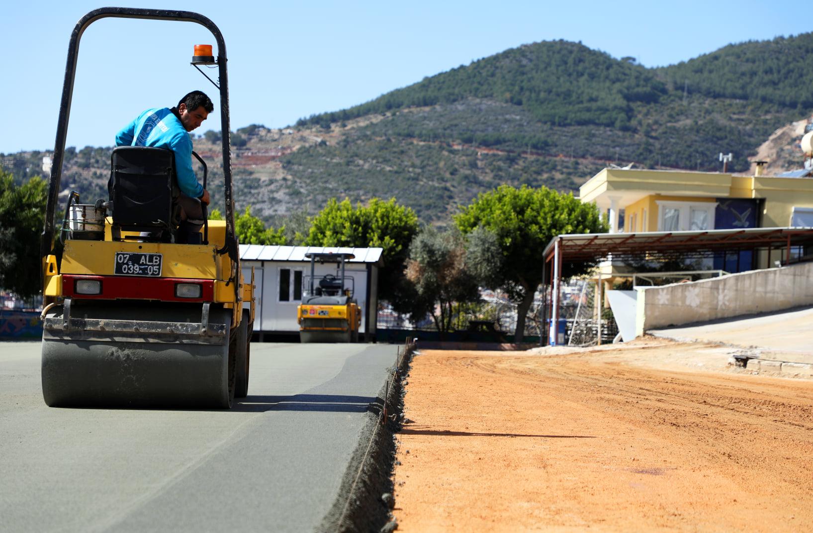 Alanya Belediyesi sıkıştırılmış beton tekniğini ilk kez uyguladı.