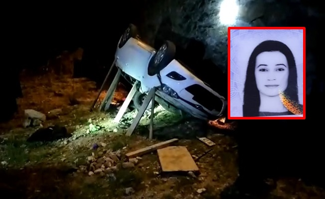 Alanya'da aracıyla 20 metrelik uçuruma yuvarlanan kadın sürücü hayatını kaybetti