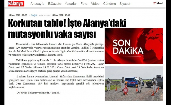 Yapılan asparagas paylaşım Alanya'da paniğe neden oldu