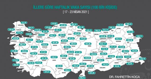 Antalya'nın 100 bin kişide görülen vaka sayısı artışı devam ediyor