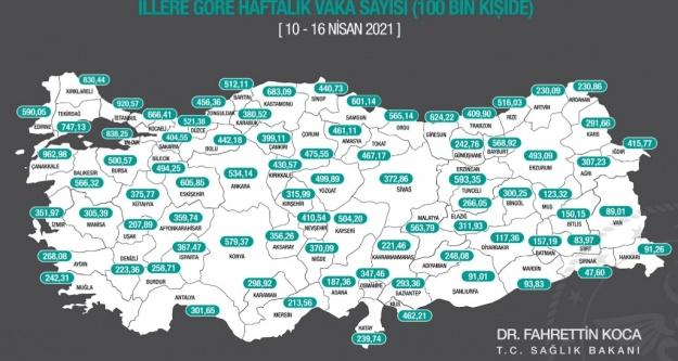 Yeni korona haritasında Antalya'da korkunç artış gözlendi