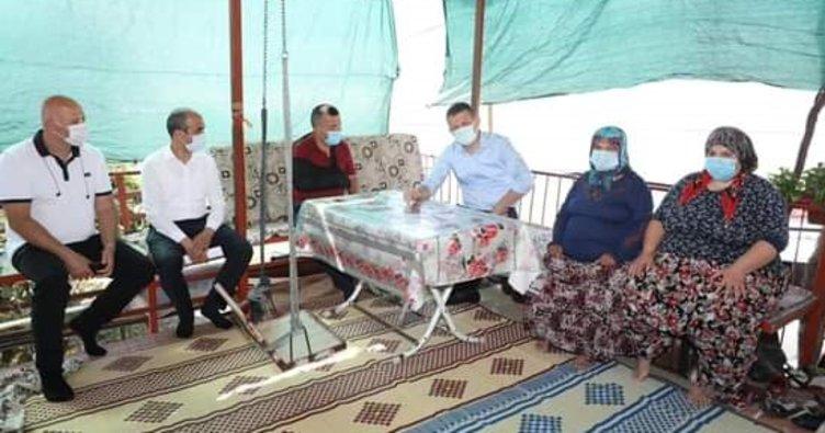 Alanya Kaymakamı Dr. Ürkmezer şehit ailelerini ziyaret ederek bayramlaştı
