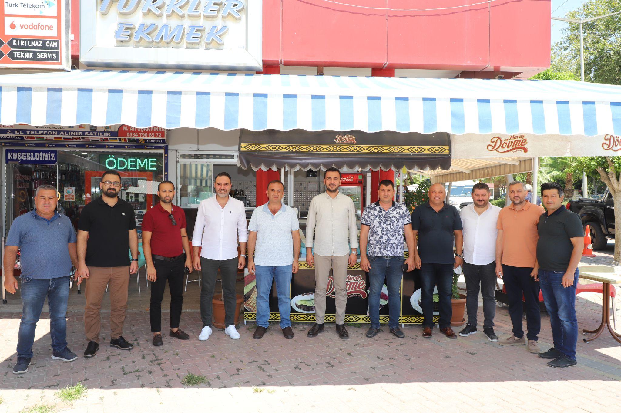 Ak Parti İlçe Başkanı Mustafa Toklu esnaf ziyaretlerine devam ediyor