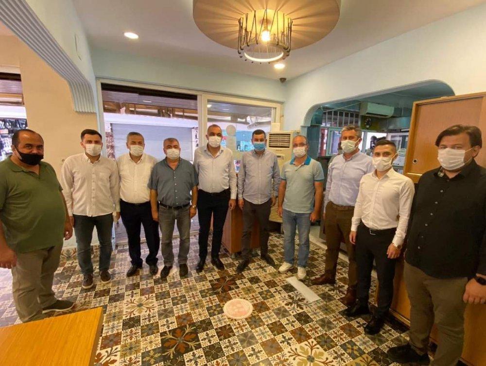 Mhp İlçe Başkanı Türkdoğan yeniden hizmete başlayan işletmeleri ziyaret etti