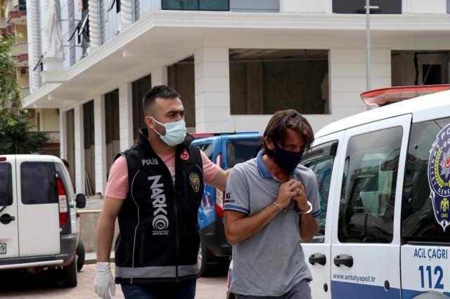 Alanya'da uyuşturucu şüphelisi şahıs gözaltına alındı
