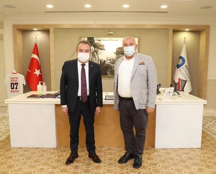 Altso Başkanı Mehmet Şahin, Muhittin Böcek'i ziyaret etti