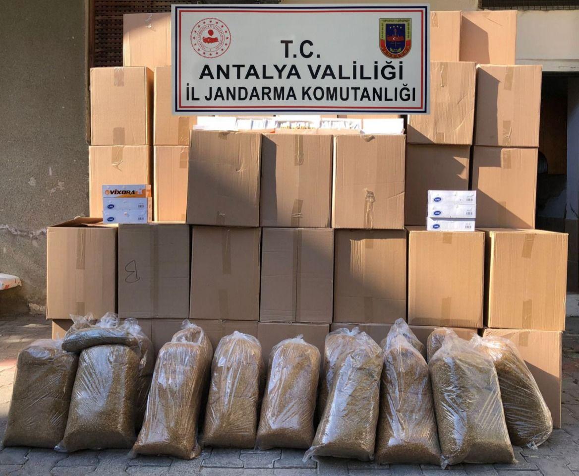 Alanya'da jandarma kaçak tütün operasyonu düzenledi