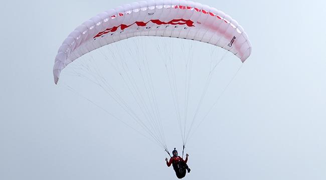 Alanya'da Yamaç Paraşütü yarışları başladı