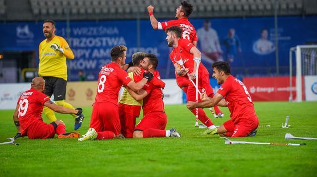 2021 Avrupa Şampiyonası finalinde İspanya'yı 6-0 deviren Ampute Futbol Milli Takımı şampiyon oldu