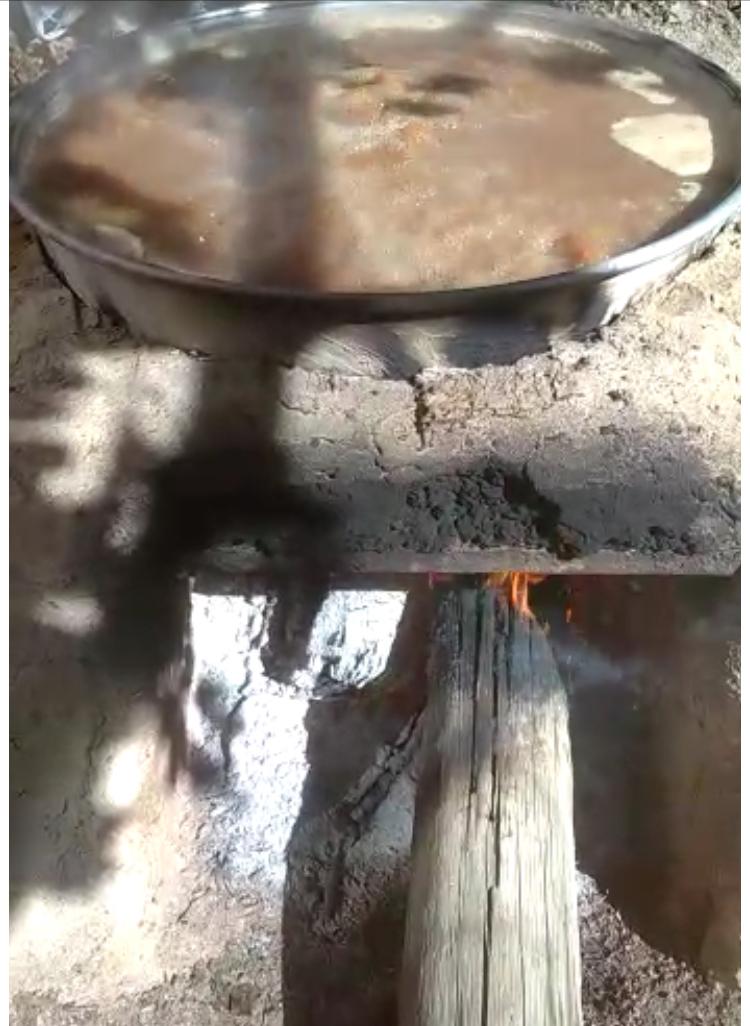 Asırlık fırınlar pekmez yapımı için yandı
