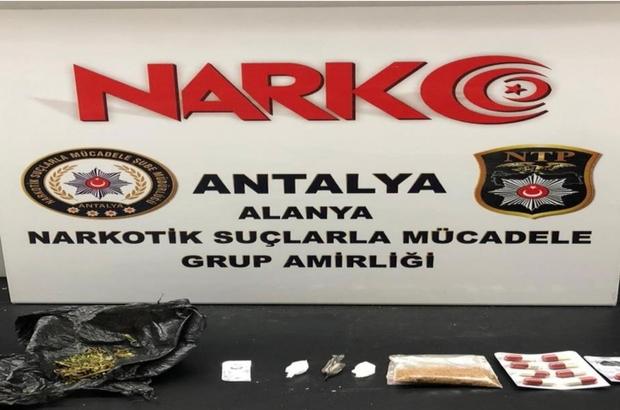 Alanya'da düzenlenen uyuşturucu operasyonunda 3 şüpheli gözaltına alındı
