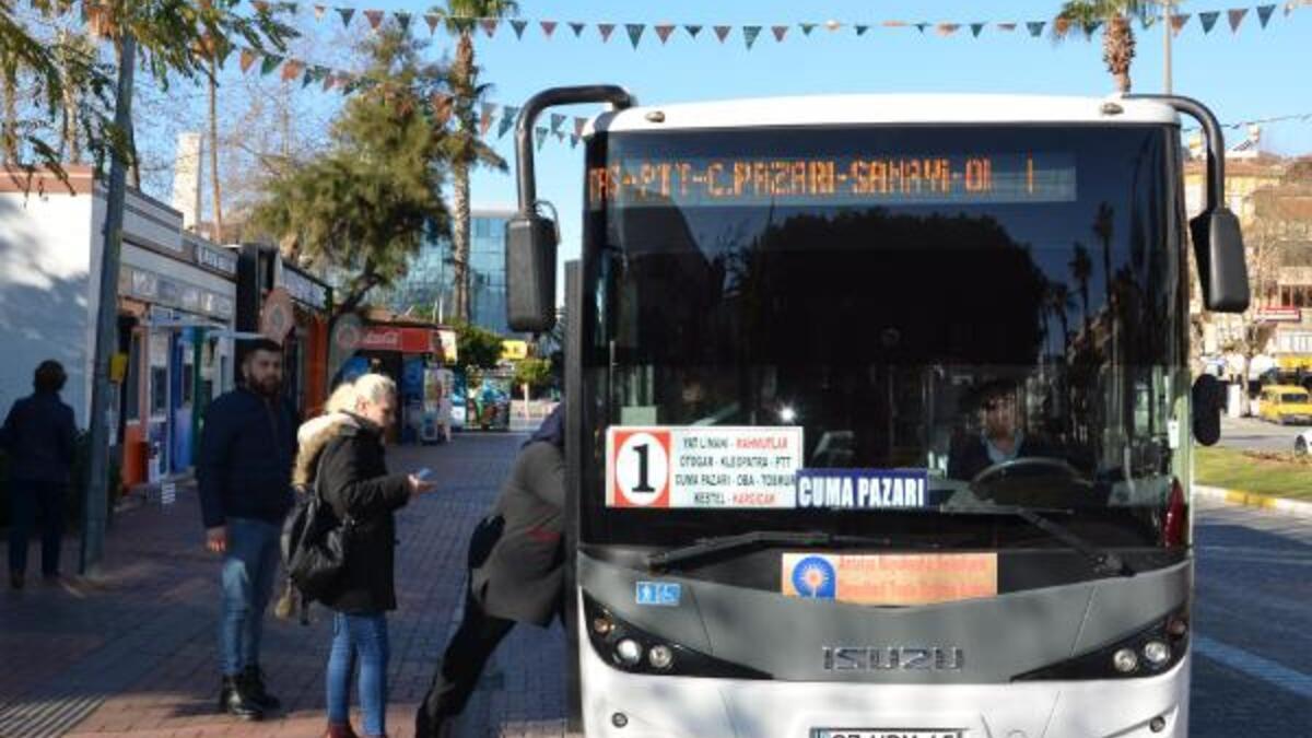 Alanya'da toplu taşıma seferlerine yeni düzenleme getirildi