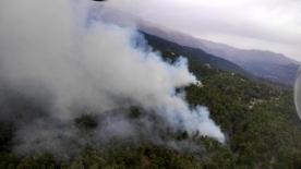 Manavgat'ta ikinci kez aynı yerde çıkan yangına havadan ve karadan müdahaleye başlandı