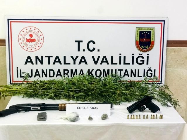 Manavgat'ta jandarma tarafından düzenlenen uyuşturucu operasyonunda 1 şüpheli gözaltına alındı